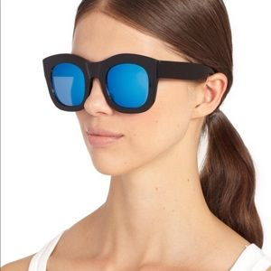 Illesteva Hamilton Blue Mirror Sunglasses